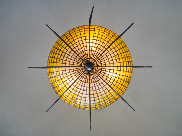 Lightner museum Tiffany hanging glass lamp