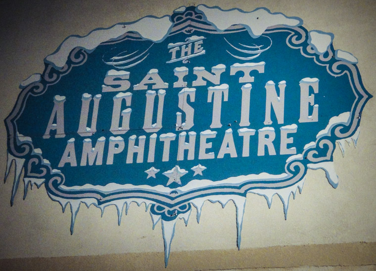 Picture of snow and ice at St Augustine Amphitheatre
