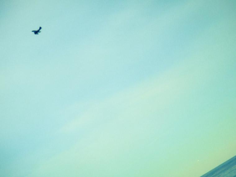 Airplane over st augustine beach