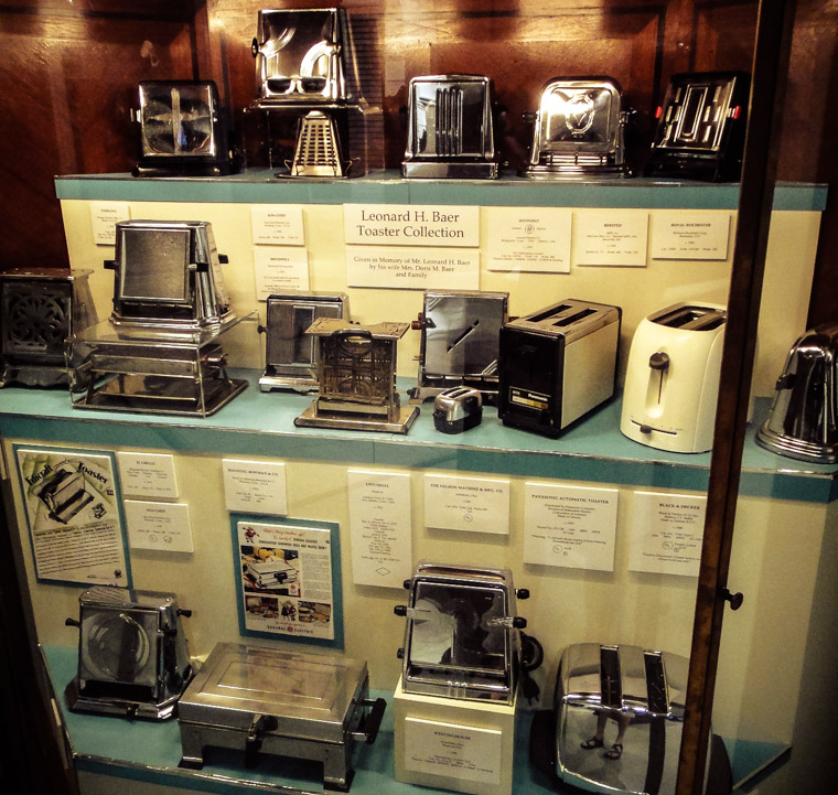 Lightner's Leonard H Baer Antique Toaster Collection