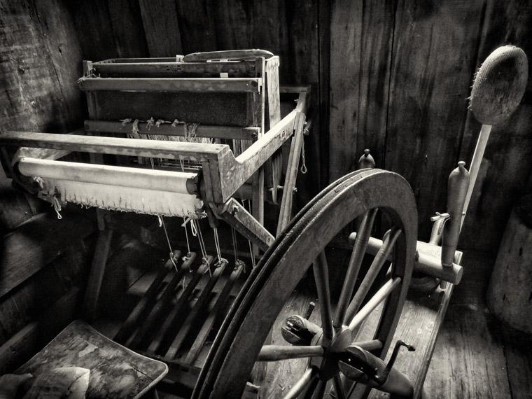 Florida Agricultural museum cracker loom spinning wheel