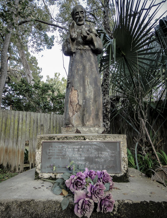 Picture of St Francis of Assisi statue in Saint Augustine
