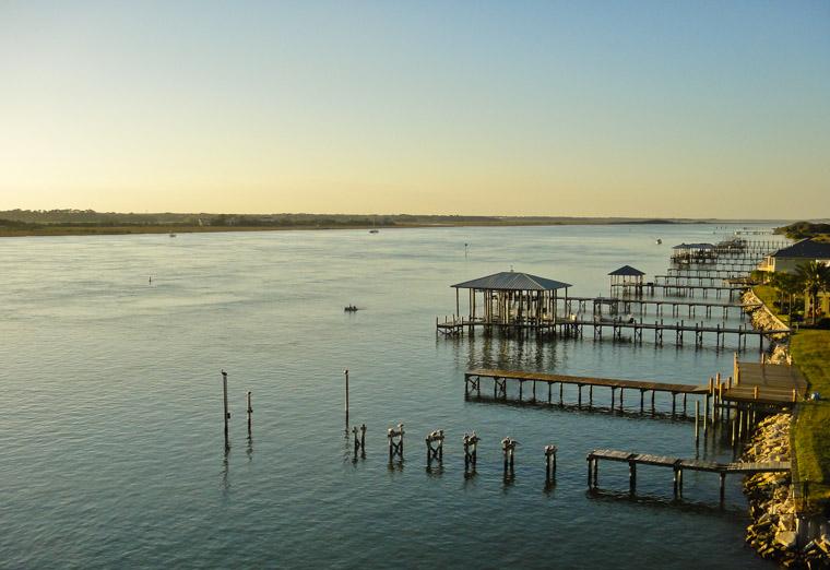 Vilano Docks at Sunset