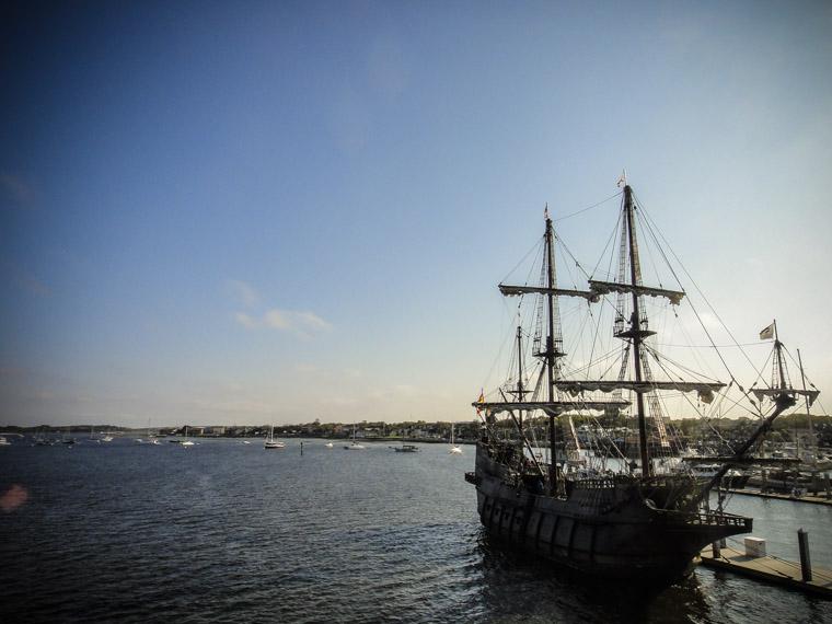 spanish galleon at marina