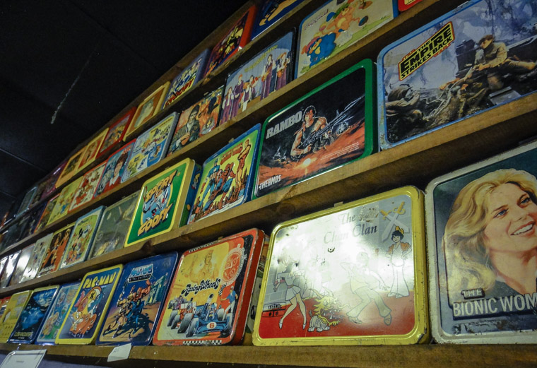 Vintage Lunchboxes at Potbelly's Movie Theater