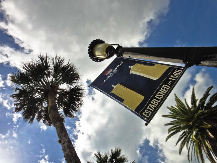 Oldest  city banner lightpole