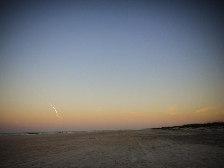 Nasa Delta IV Rocket launch from st augustine beach