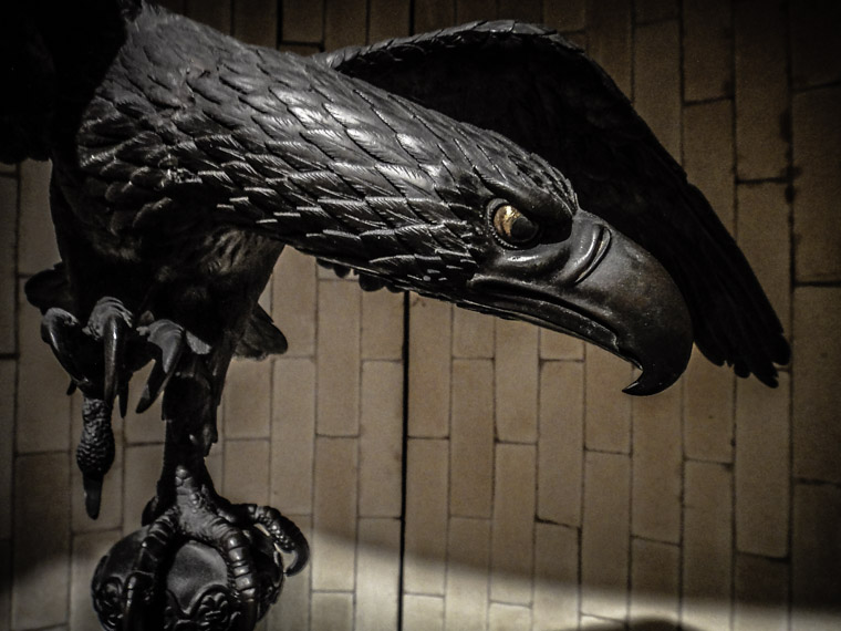 Lightner museum incense burner bronze eagle