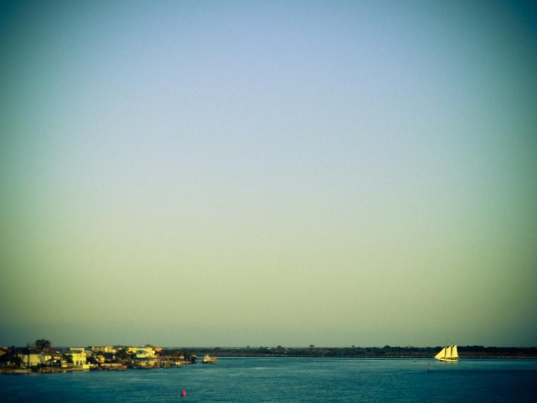 Vilano sailboat sunset