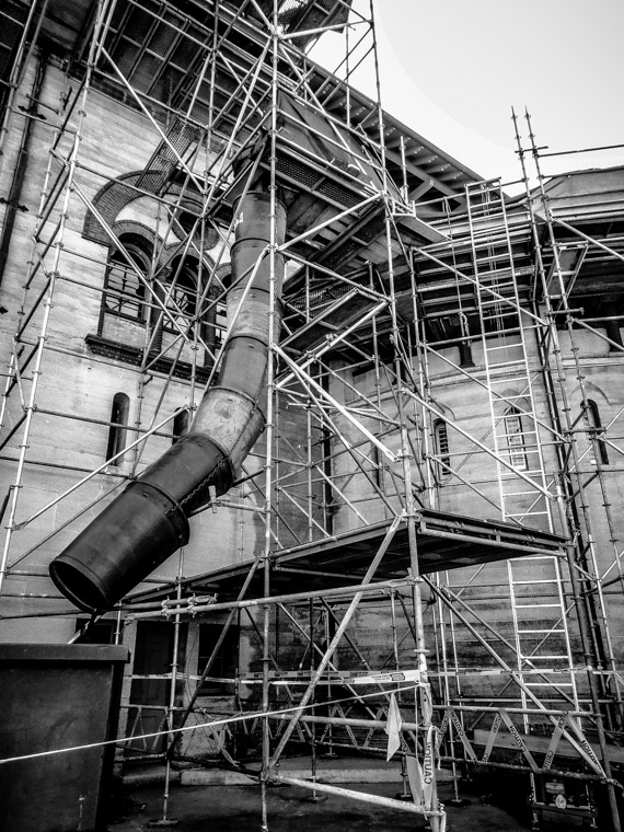 Lightner Museum scalfolding renovations