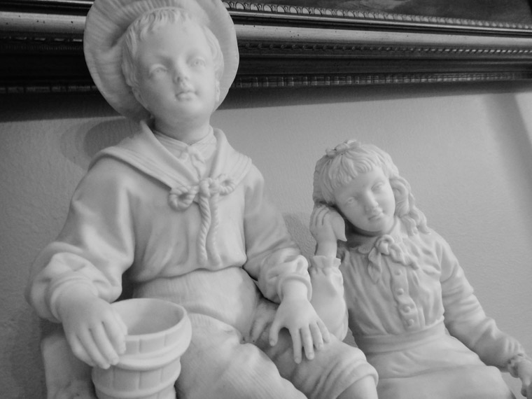 Sculpture at Dow museum of historic houses