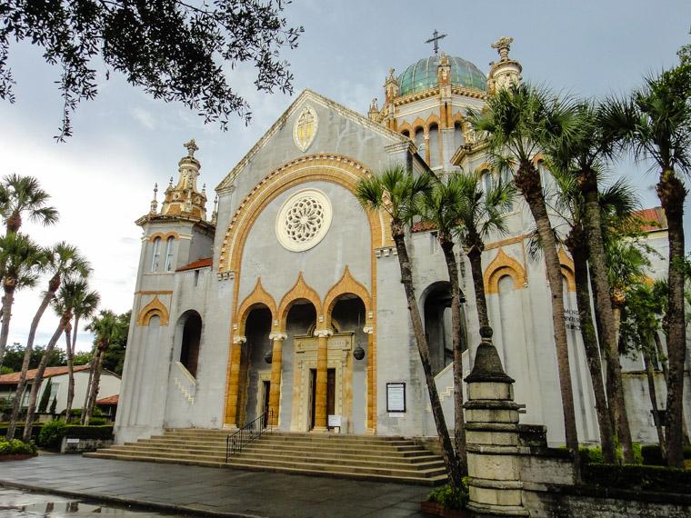 Memorial Presbyterian Church after afternoon rain shower