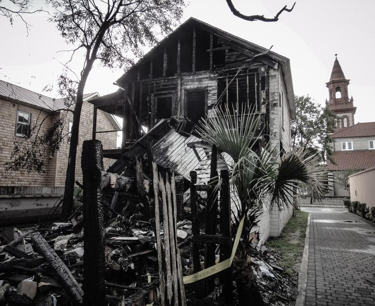 Arson at house fire on Cordova