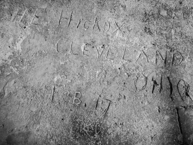 Vintage castillo de san marcos graffiti from Ohio