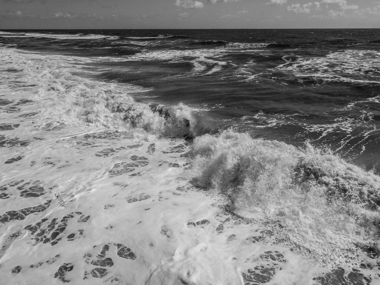 Waves at St Augustine beach from pier