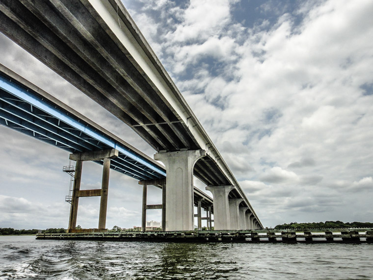 312 Bridge from below structure intracoastal