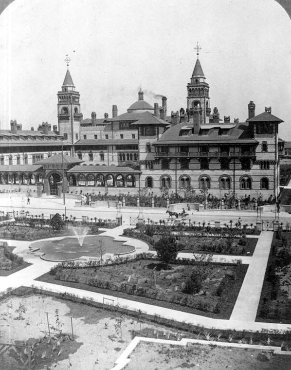 Flagler College lightner park construction