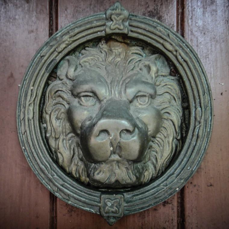 Dow Museum of Historic Houses Lion Door Knocker