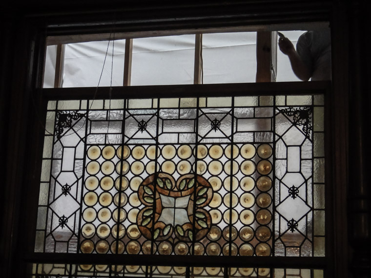 Flagler College Hotel Ponce de Leon Dining Hall Tiffany Stained Glass