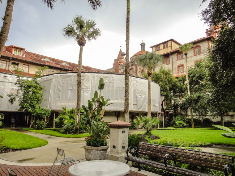 Flagler College Hotel Ponce de Leon renovation work