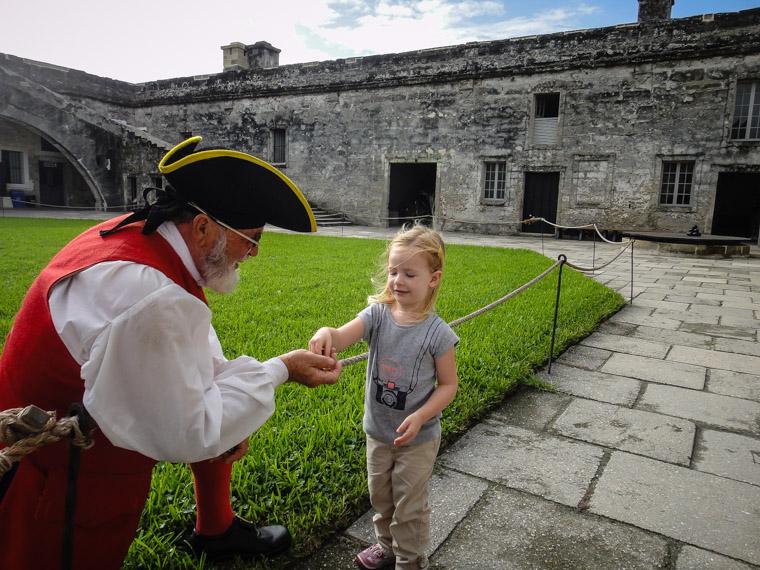Fort Castillo de San Marcos Spanish Doubloon coin gift