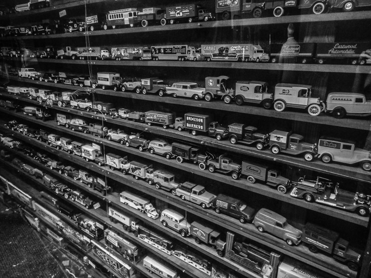 Potbelly's Toy Model Car Wall Collection