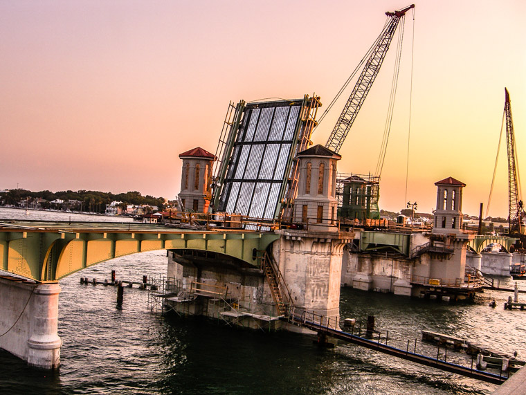 Bridge of Lions Construction Sunset Intracoastal