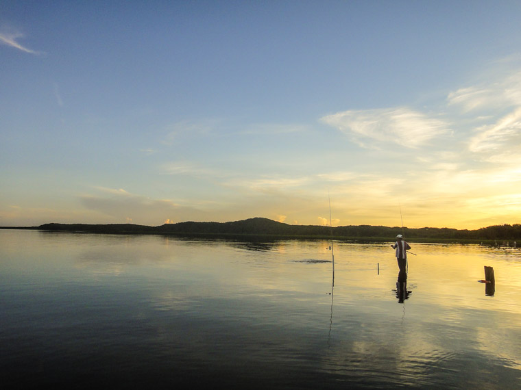 Sunrise fishing at Guana Reserve