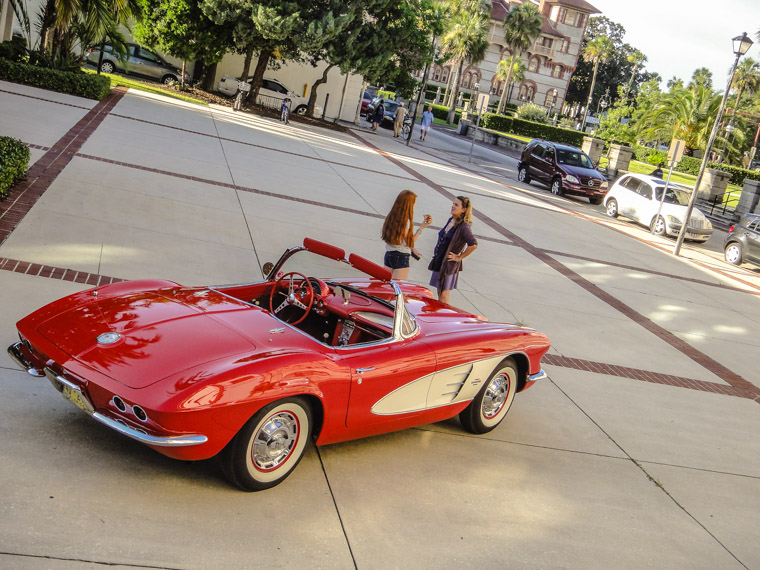 Corvette for showing of Route 66 at Flagler