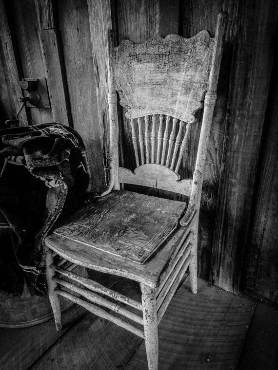 Vintage cracker chair at Florida Agricultural Museum