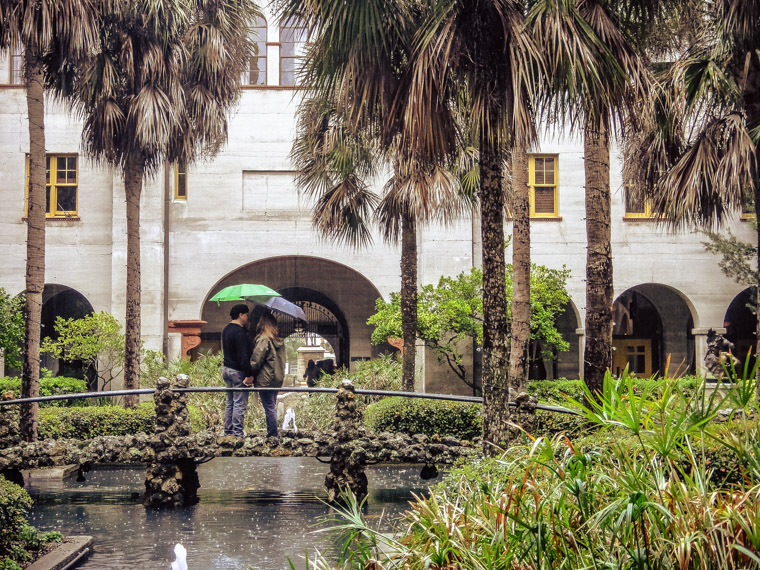 Lightner Museum Umbrella Love in Rain