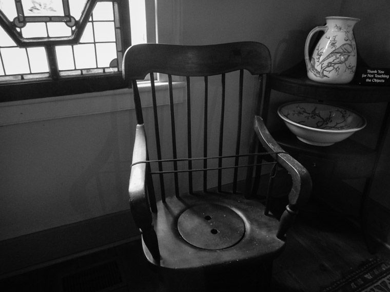 Dow Museum of Historic Houses Toilet Chair Commode