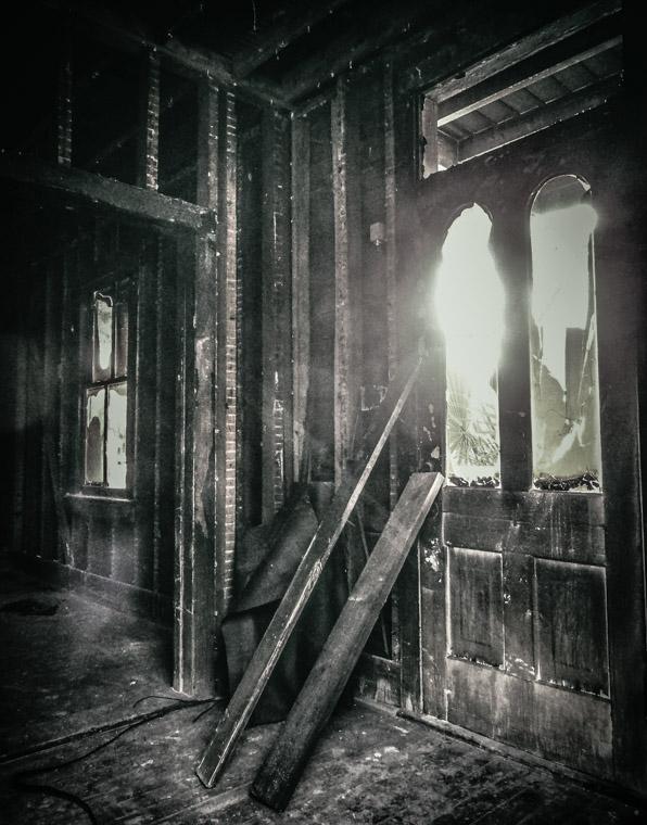 Arson house fire on Cordova