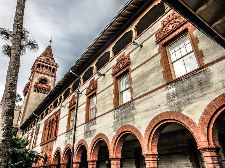 Flagler College Hotel Ponce de leon Rainy Day