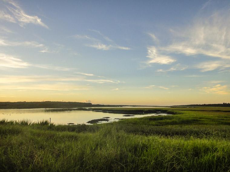 Guana Tolomato Estuary Preserve Marsh Water Sunrise