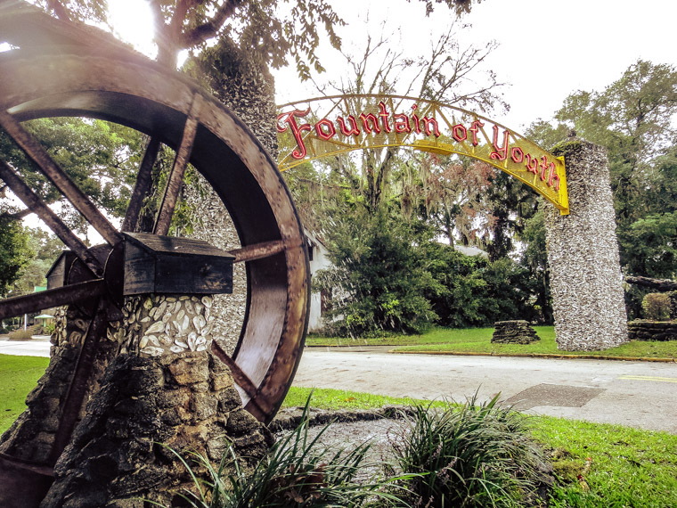 Fountain of Youth Entrance Waterwheel