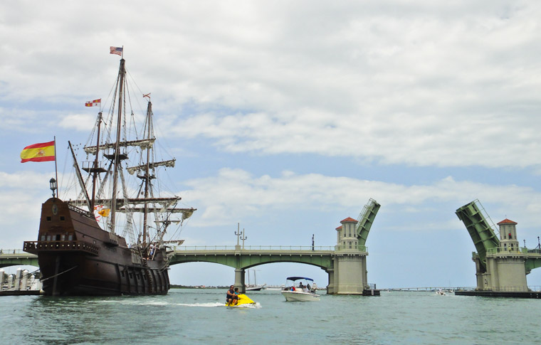 Spanish el galleon bridge of lions jetski