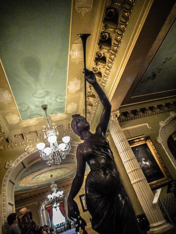 Flagler College Hotel Ponce de Leon Parlor Bronze Sculpture