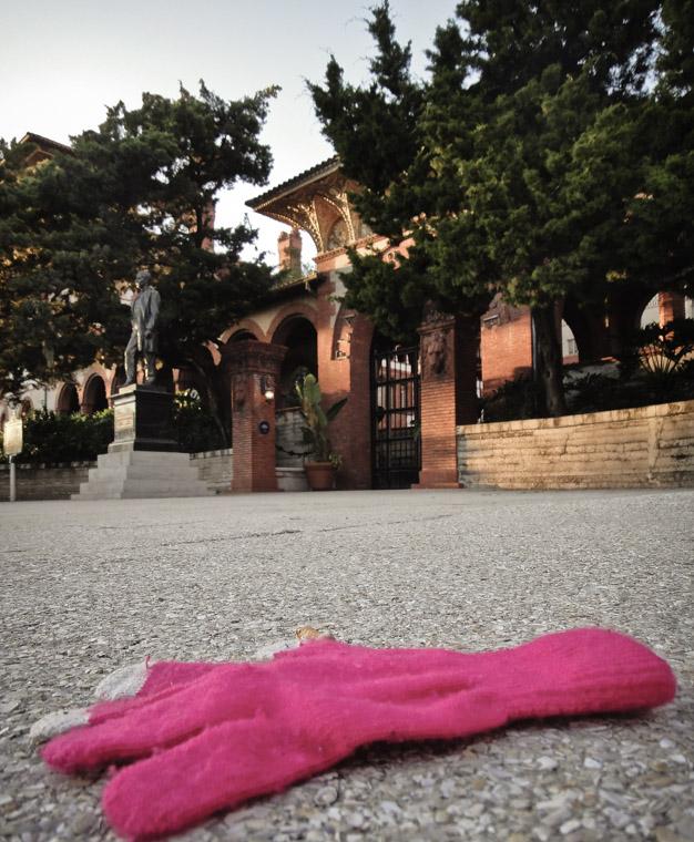 Lost glove outside Flagler College entrance