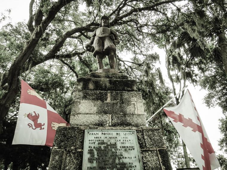 Juan Ponce de leon Fountain of Youth Sculpture Bronze