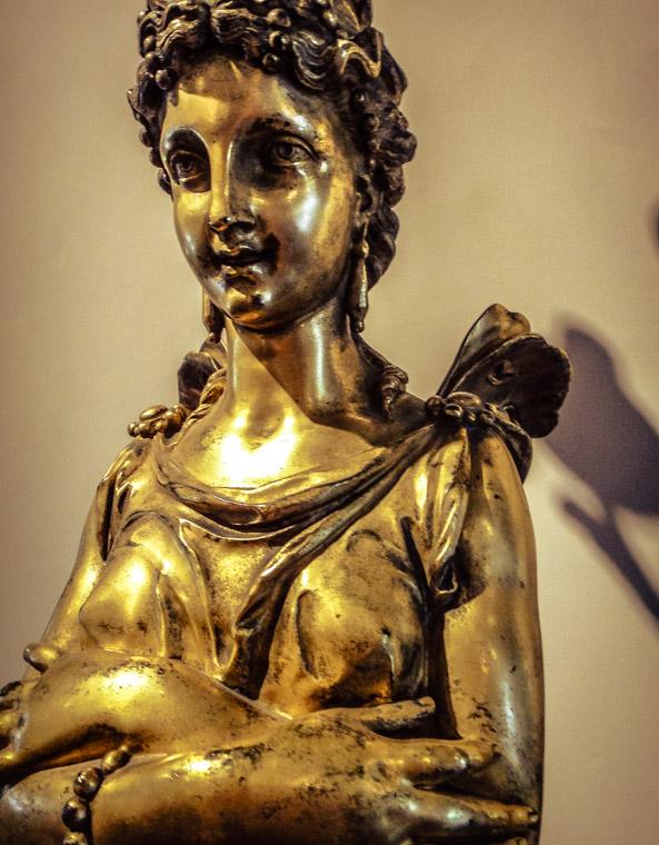 Lightner Museum Bronze Statue Gold