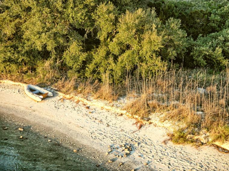 Rowboat beach Vilano intracoastal