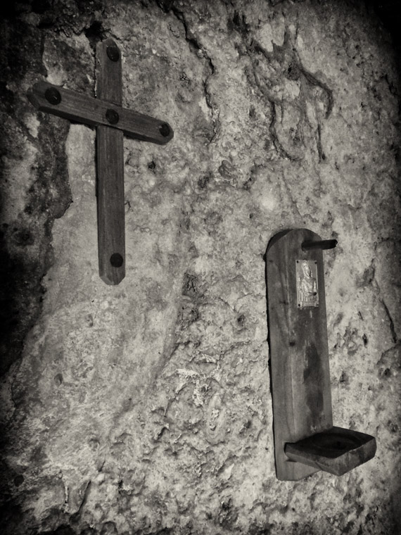 Fort Matanzas cross religion wall