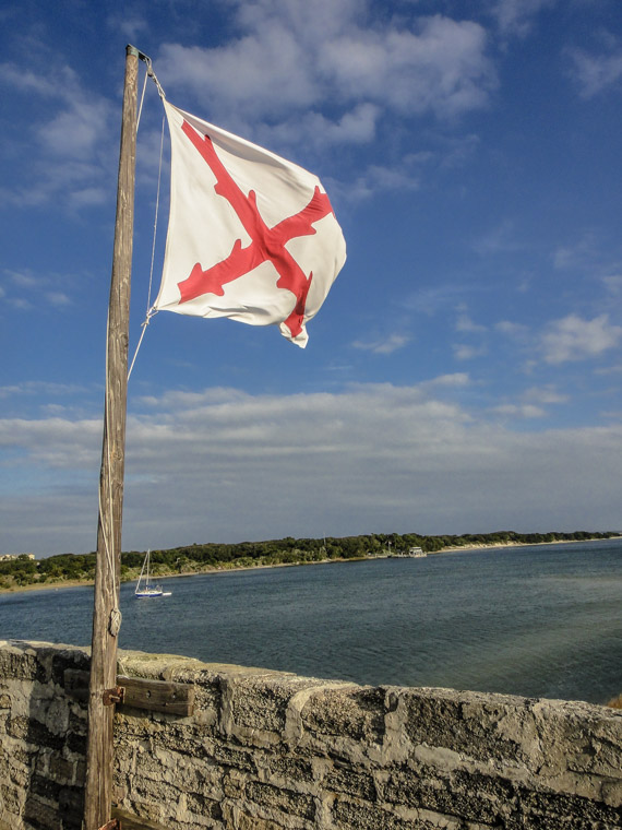 Fort Matanzas Spanish Flag Intracoastal