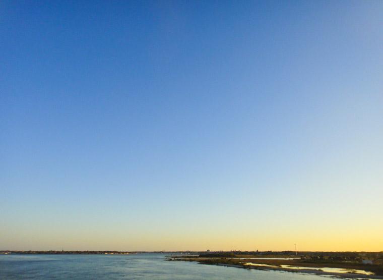 Skyline over intracoastal from Vilano bridge