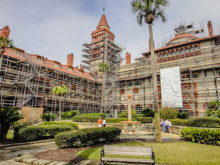 Flagler Restoration Scaffolding Construction