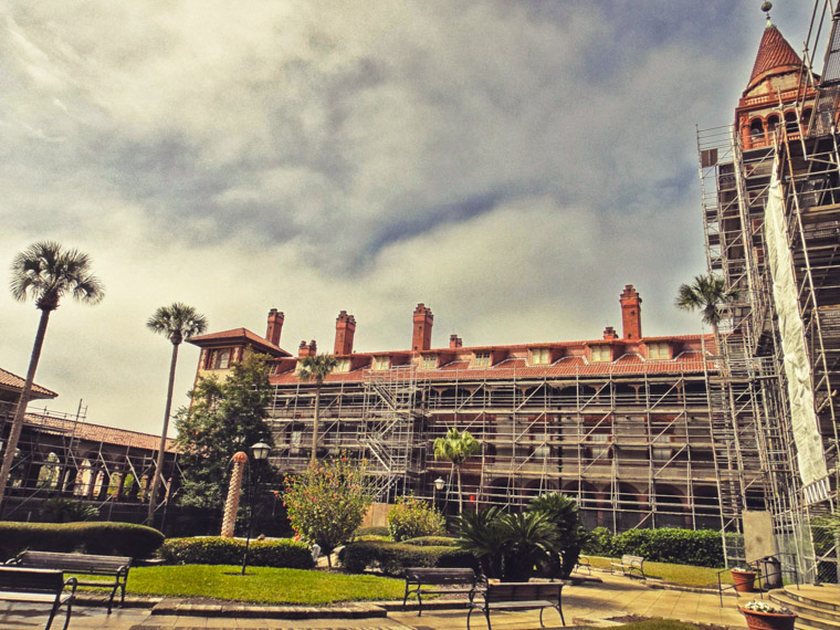 Flagler College Construction Scaffolding