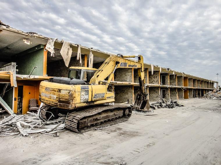Demolition of St Augustine Beach Front Hotel