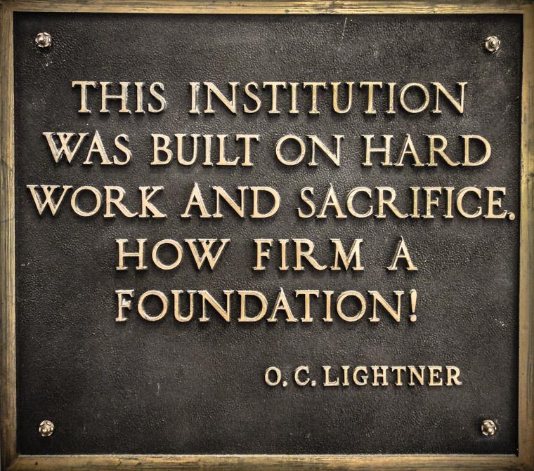 Lightner hard work and sacrifice foundation plaque