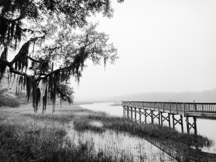 Vail Point Park dock intracoastal marsh